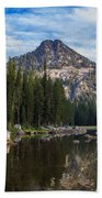 Shoreline View Of Anthony Lake Hand Towel