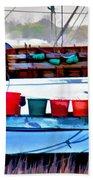 Shrimp Boat Buckets Bath Towel