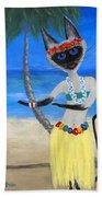 Siamese Queen Of Hawaii Bath Towel