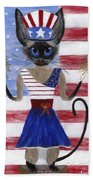Siamese Queen Of The U S A Hand Towel