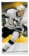Sidney Crosby Artwork Bath Towel