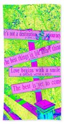 Signs Of Life Bath Towel