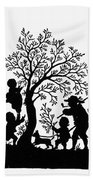 Silhouette Family Life Hand Towel