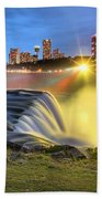 Silky Niagara Falls Panoramic Sunset Bath Towel