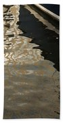 Silky Swirls And Zigzags - A Waterfront Abstract Bath Towel