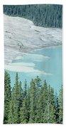 1m3531-silt Entering Peyto Lake Bath Towel
