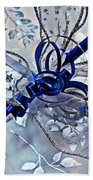 Silver And Blue Wrapped Gift Art Prints Bath Towel