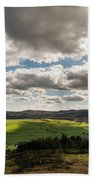 Simonside Hills From Rothbury Terraces Bath Towel