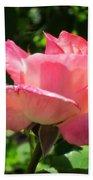 Single Pink Rose Bath Towel