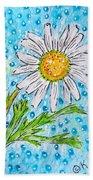 Single Summer Daisy Bath Towel