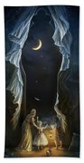 Sisters In The Moonlight Hand Towel