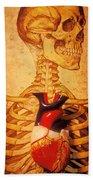 Skeleton And Heart Model Bath Towel