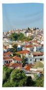 Skiathos Harbour In Greece Bath Towel