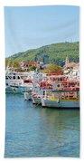 Skiathos Town Harbour Bath Towel