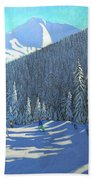Skiing  Beauregard La Clusaz Bath Towel