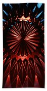 Skc 0285 Cut Glass Plate In Red And Blue Bath Towel