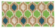 Sky And Sea Tile Pattern Hand Towel