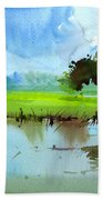 Sky N Farmland Bath Towel