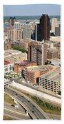 Skyline Aerial Of St. Paul Minnesota Bath Towel