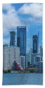 Skylines At The Waterfront, Miami Hand Towel