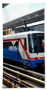 Skytrain Carriage Metro Railway At Nana Station Bangkok Thailand Bath Towel