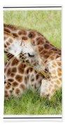 Sleeping Giraffe Bath Towel