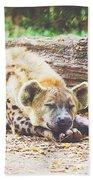 Sleeping Hyena Bath Towel