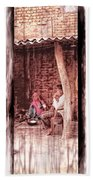 Slice Of Life Mud Oven Chulha Tandoor Indian Village Rajasthani 1c Bath Towel