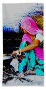 Slice Of Life Mud Oven Chulha Tandoor Indian Village Rajasthani 2 Bath Towel