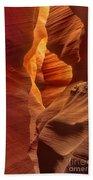 Slot Canyon Detail Corkscrew Or Upper Antelope Slot Canyon Arizona Bath Towel