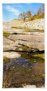Small Pond Devonian Fossil Gorge Bath Towel