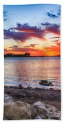 Smithville Lake Sunset Bath Towel