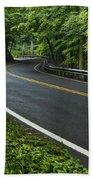 Smoky Mountain Road After Spring Rain E70 Bath Towel