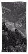 Smoky Mountain View Black And White Bath Towel