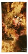 Smoky The Voodoo Clown Doll  Hand Towel