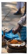 Snake Charmer Hampi Bazaar Bath Towel