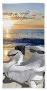 Snow Bird Vacation Hand Towel