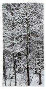 Snow Branches Bath Towel