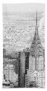Snow - Chrysler Building And New York City Skyline Bath Towel