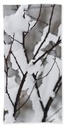 Snow Covered Branches Bath Towel
