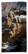 Snow Covered Grand Canyon Bath Towel