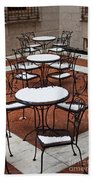 Snow Covered Patio Chairs And Tables Bath Towel