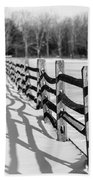 Snow Fence Bath Towel