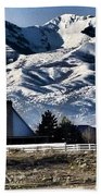 Snow In The Mountains Bath Towel