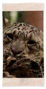 Snow Leopard 17 Bath Towel