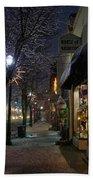 Snow On G Street 3 - Old Town Grants Pass Bath Towel