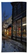 Snow On G Street - Old Town Grants Pass Hand Towel