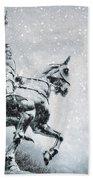 Snow On Joan Bath Towel