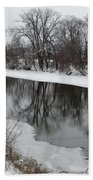 Snow On The River Bath Towel
