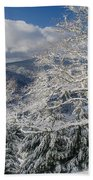 Snow Scene At Berry Summit Bath Towel
